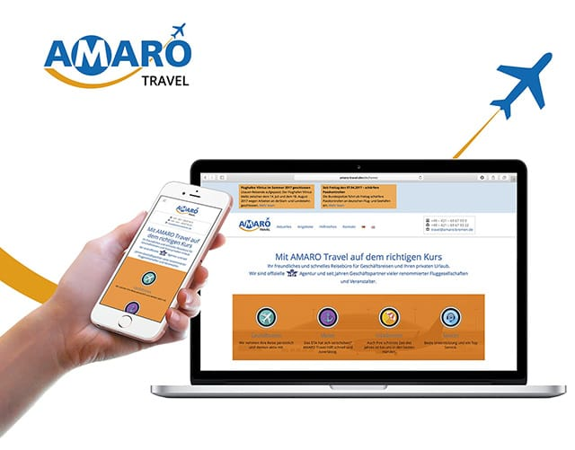 AMARO Travel Website Thumbnail